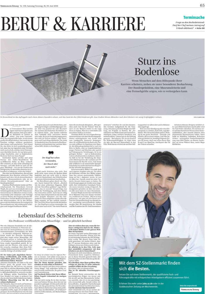 Wedemeyer-SZ-Artikel Scheitern für Gro�e